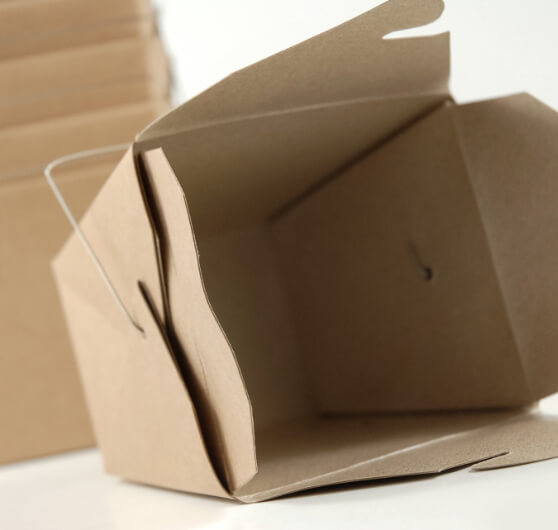 "12 Brown Kraft Paper 4"" Take Out Boxes"