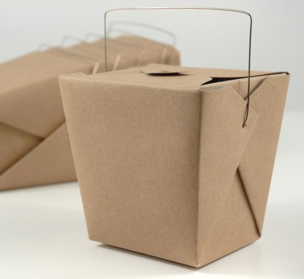 """12 Brown Kraft Paper 4"""" Take Out Boxes"""