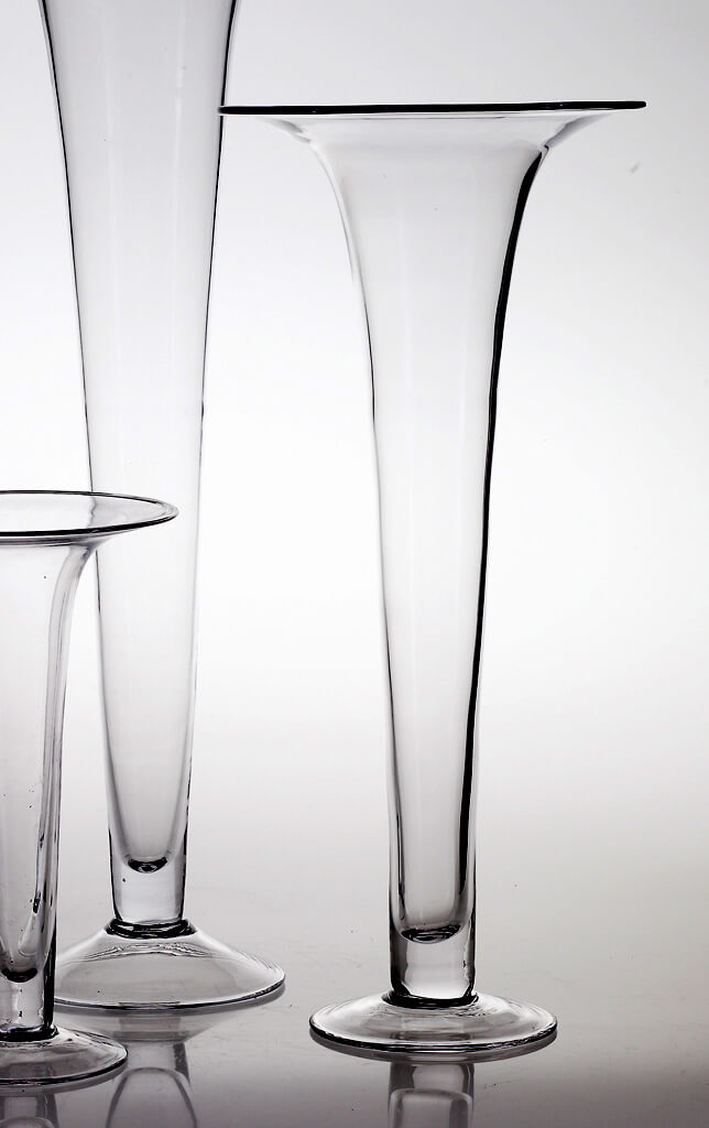 Tall Glass 24in Trumpet Vases Panache Vase