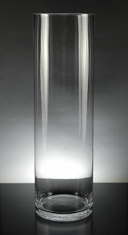 "Tall Clear Glass 20""  Cylinder Vases"
