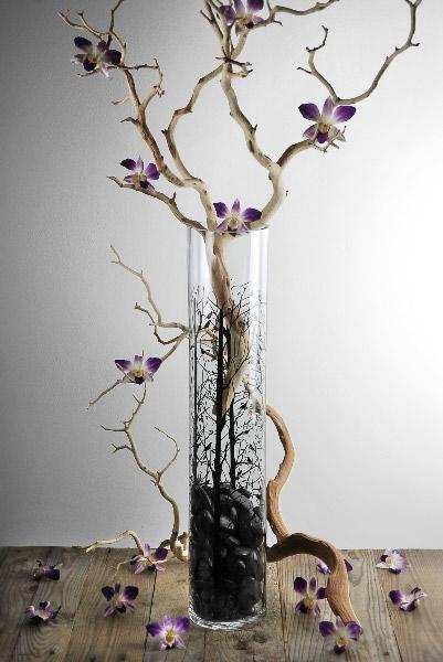 Bird Amp Branch 24 Quot Glass Cylinder Vase