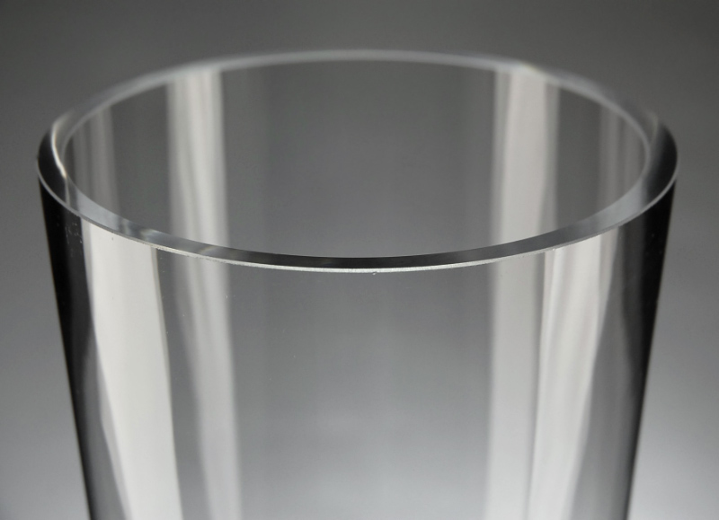 Tapered Clear Glass Cylinder 16 in