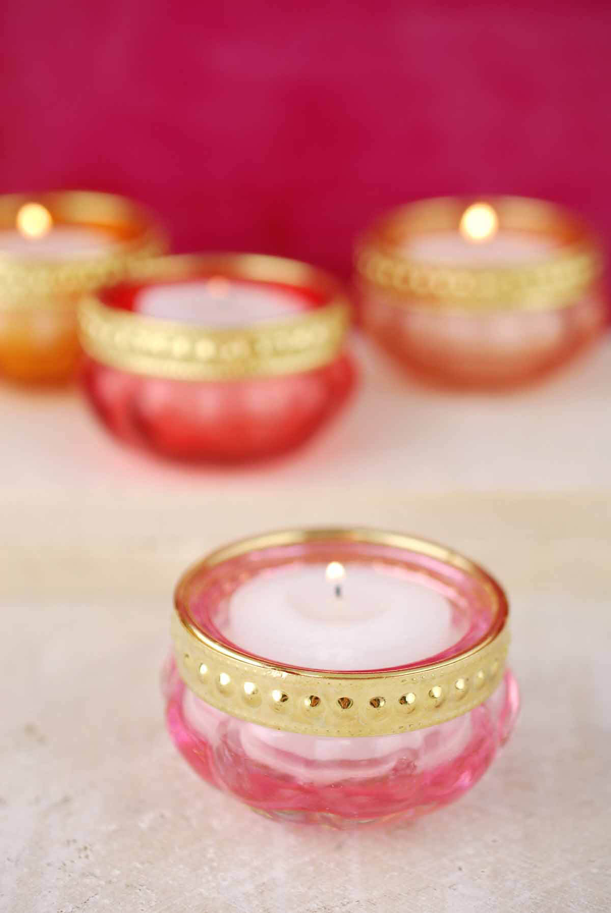 tealight candle holders set of 4