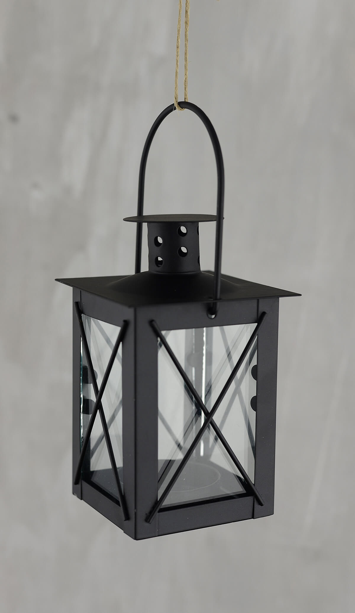 6 black metal u0026 glass tealight lanterns 5in