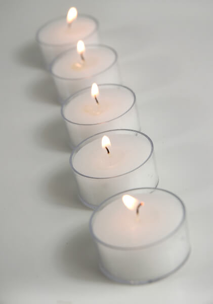 Clear Cup Tealights Candles (50 Pcs)