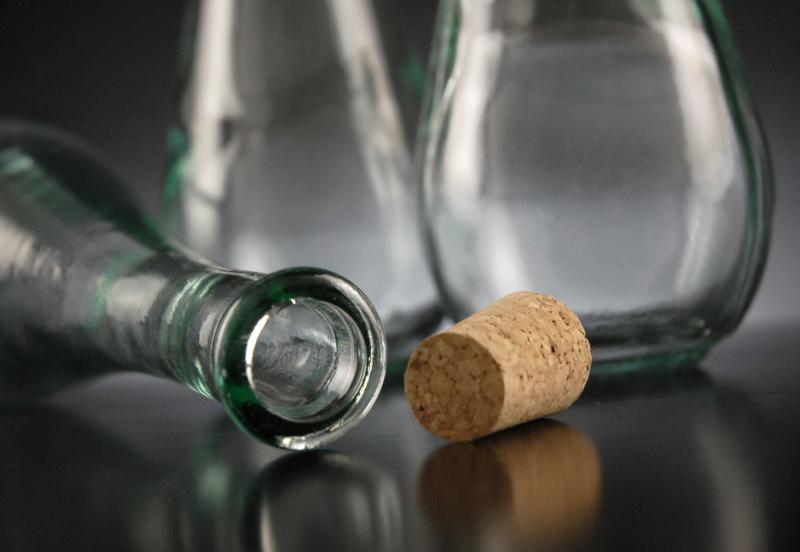 Cork Top Teardrop Bottle 12oz 9.75in