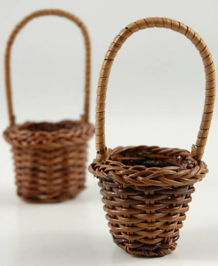 Tiny Wicker Basket With Handle : Favor baskets small