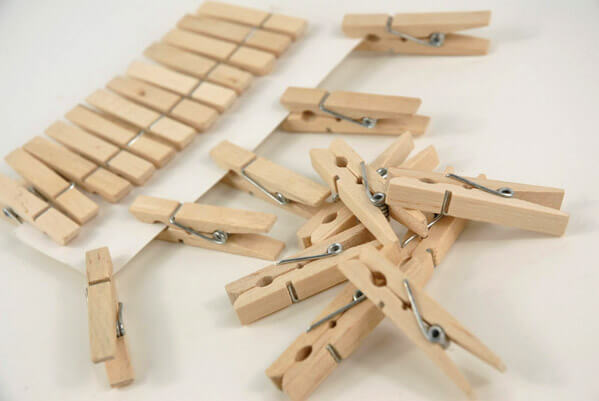 24 Tiny 1.75in Clothespins
