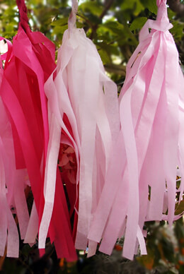 Tissue Paper Tassel Garland Kit (20 Tassels)- Pink Party