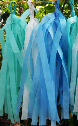 Tissue Paper Tassel Garland Kit (20 Tassels)- Blue Party