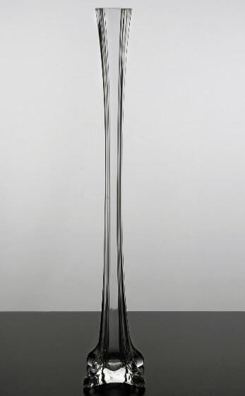 Clear Glass Eiffel Tower 20 Inch Vase