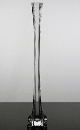 Clear Glass Eiffel Tower 20 Inch Vase
