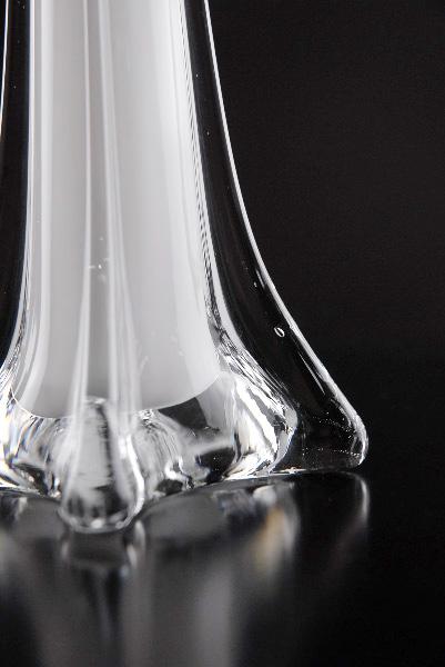 "White Glass Eiffel Tower Vases 20"""