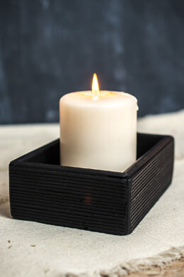 Black Bamboo Tray