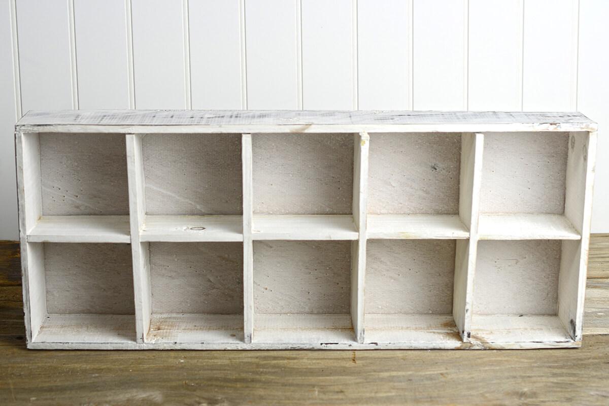10 Section Wood Box 10x24