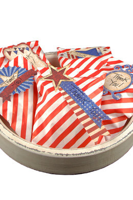 Red & White Striped Treat Bags  5x7in (Pack of 100)
