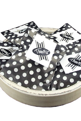 Black with White Dots Treat Bags 5x7in (Pack of 100)