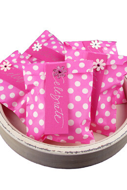 Pink & White Polka Dot Treat Bags  5x7in (Pack of 100)