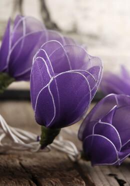 Purple Tulip Nylon Flower String Lights 10FT