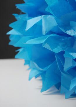 """4 Tissue Paper Pom Poms  20""""  Blue"""