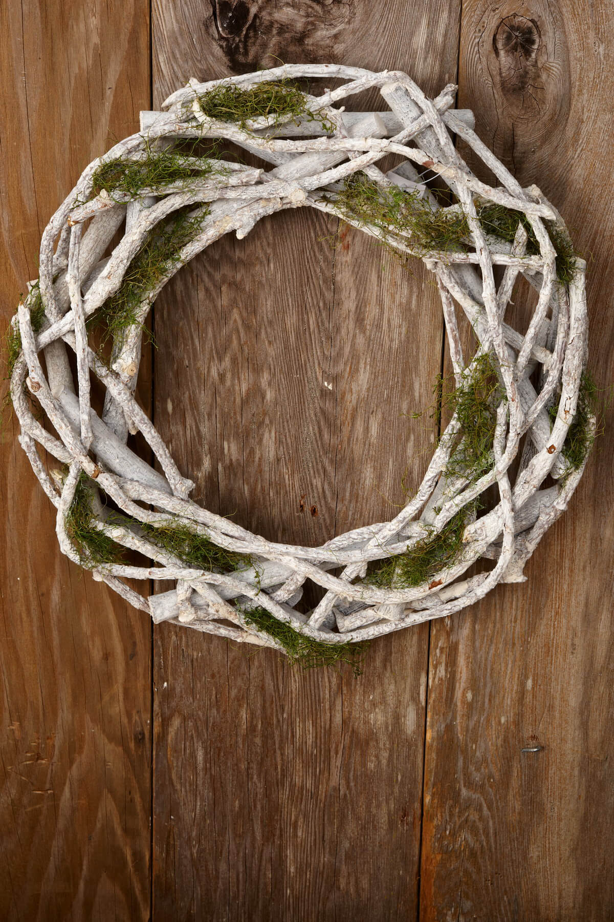 Grape vine for crafts - Twig Moss Wreath 15in
