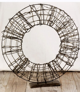 "Twig & Wire 18"" Wreath on Metal Stand"