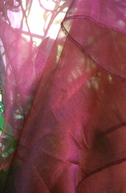 Organza Fabric Two Tone Burgundy 9ft