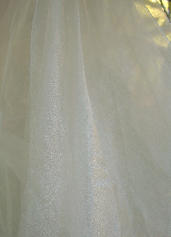 "Two Tone Ivory Organza Fabric Sheet 54"" wide x 108"""