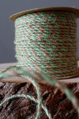 Twine Mint Green & Natural  Jute  2.5 mm x 50 yards