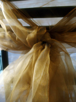 Organza Fabric Two Tone Black & Gold 9ft