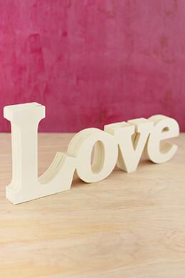 "Cut Out Wood ""Love"" 5x12"