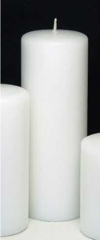 "Unity Candle White 3x8 Unscented  8"" Pillar"