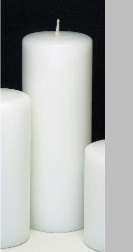 """Unity Candle White 3x8 Unscented  8"""" Pillar"""
