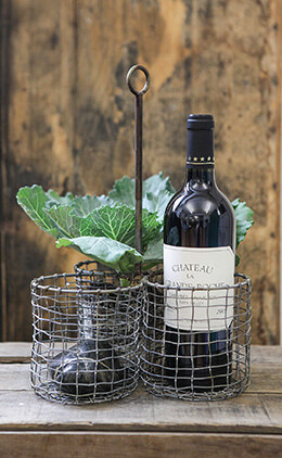 Chicken Wire Wine & Utensil Holder