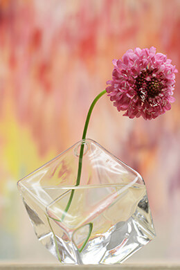 Glass Cube Bud Vase 4.5""