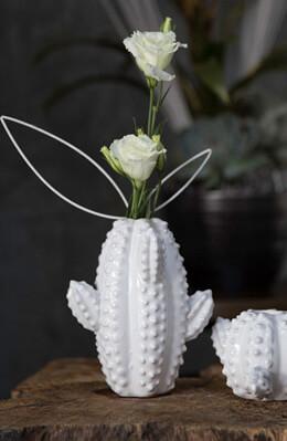 Ceramic Cactus Bud Vase 6 inch