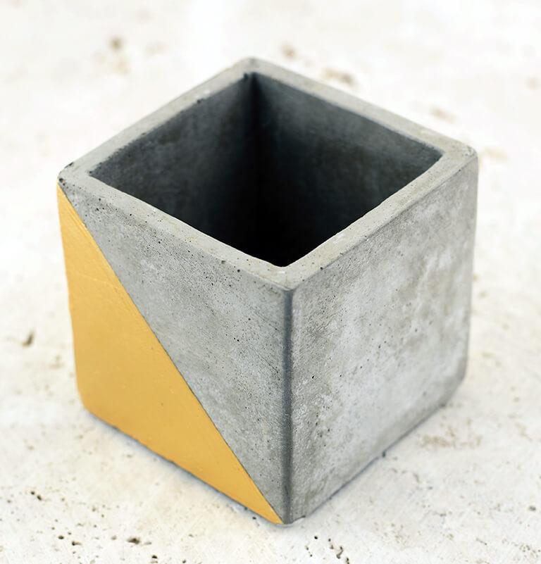 "Gold Dipped Paradox Cube Vase 3"""