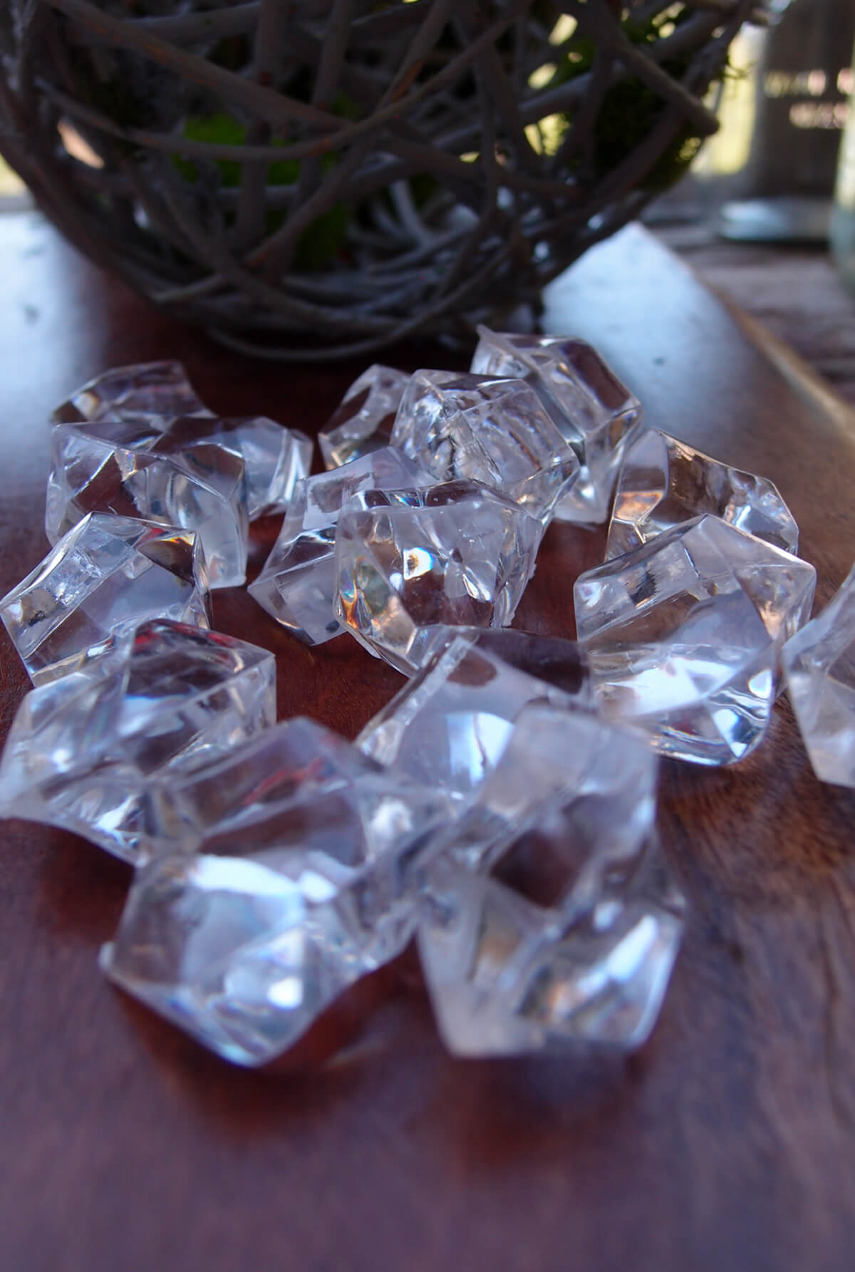 Vase fillers gems cubes glass beads 2060 off saveoncrafts clear acrylic gemstone crystal wedding table confetti 34 lb bag reviewsmspy