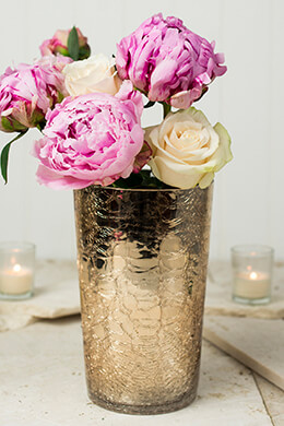 Champagne Gold Vase 8in