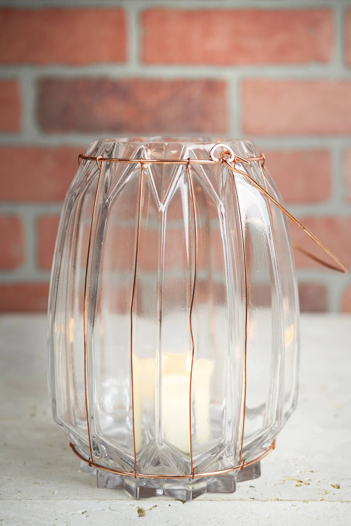 Chico Glass & Copper 7.5in Wire Vase & Candle Holder