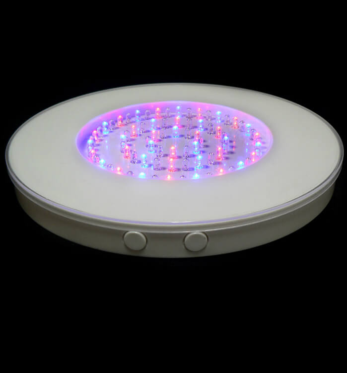 Round Led Vase Light Base 80 Multi Color Leds 10 Inches