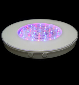 Round LED Vase Light Base, 80 Multi Color LEDs, 10 inches, White