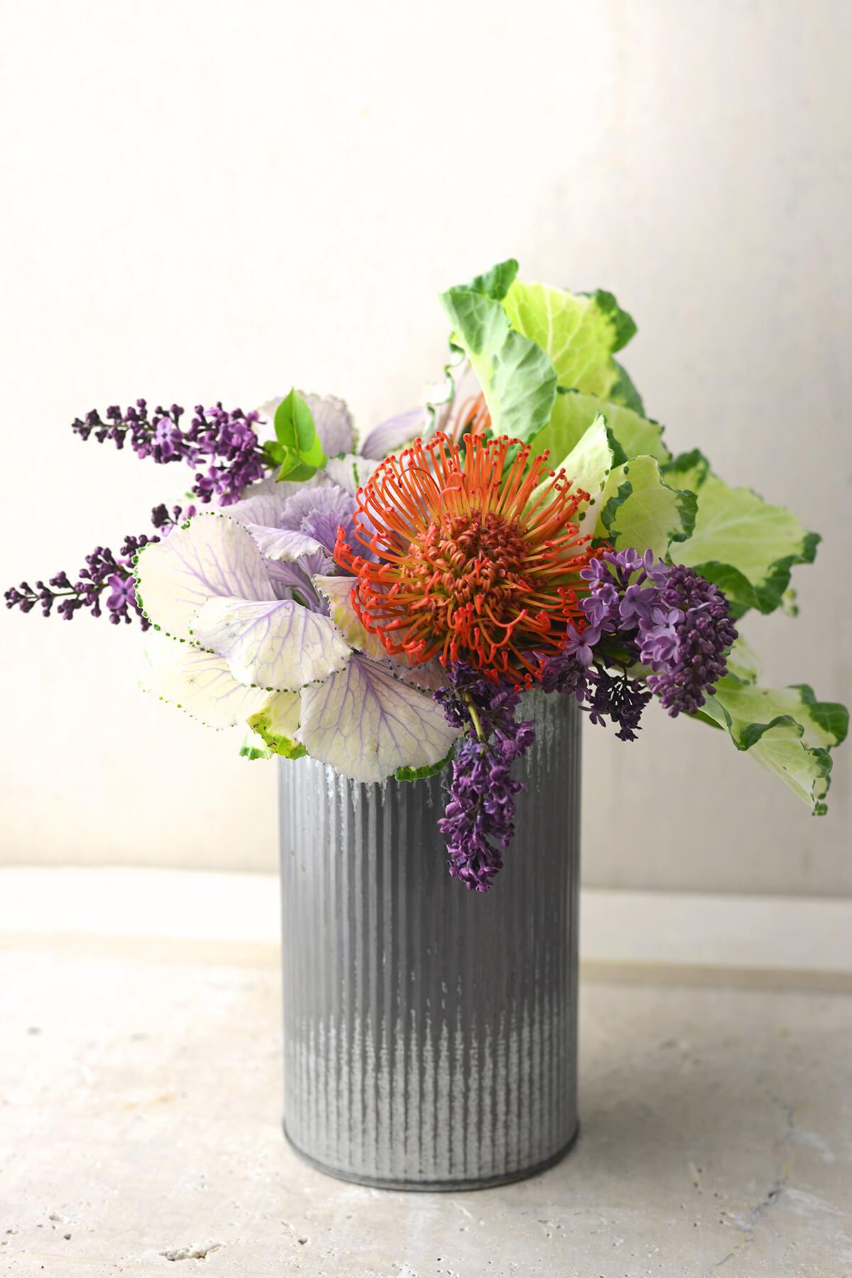Corrugated Zinc Vase 7\