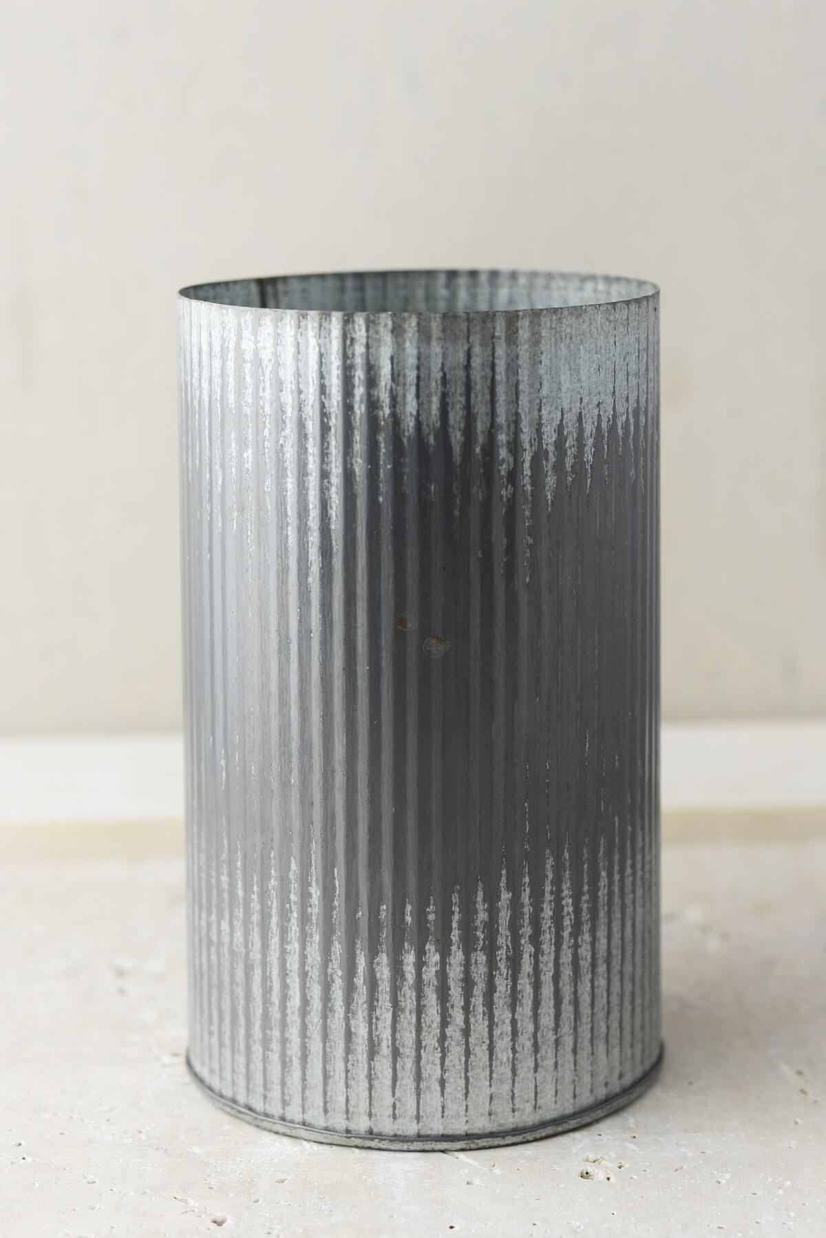 norah corrugated zinc vase 7 u0026quot