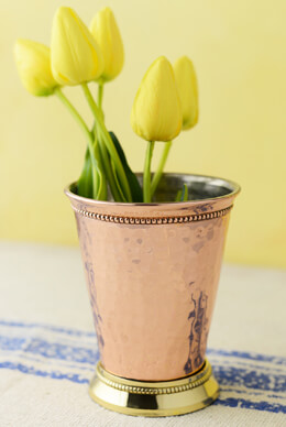 Copper Mint Julep Cup Vase  4""