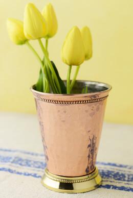 """Copper Mint Julep Cup Vase  4"""""""