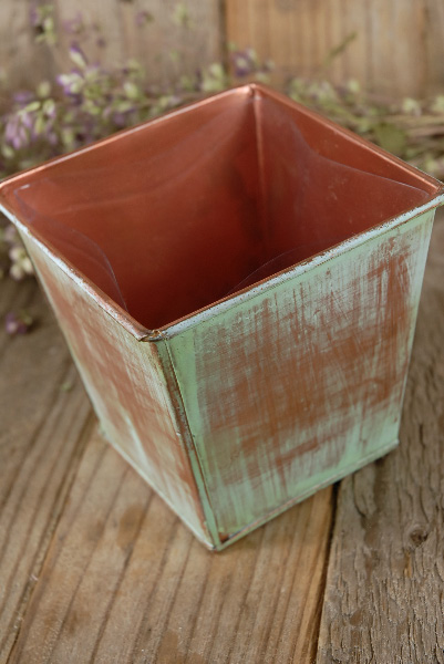 Verdigris Copper Herb Planters Amp Tray 12in