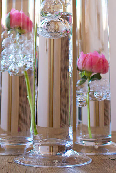 Cityscape 4 X 39 5 Footed Clear Glass Cylinder Vases