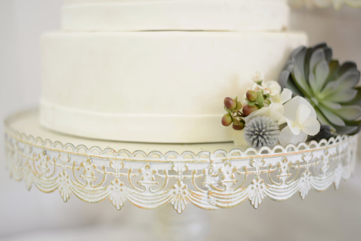 Lace Wedding Cake Stand