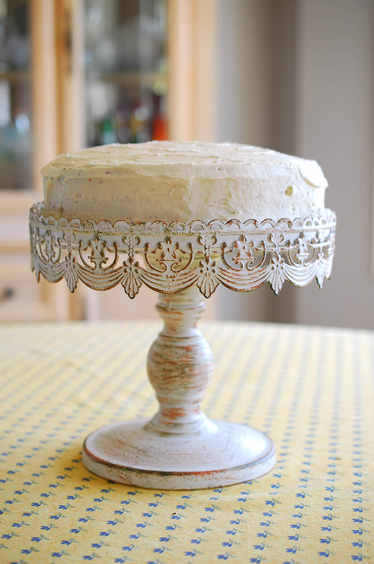 Colored Glass Cake Stand